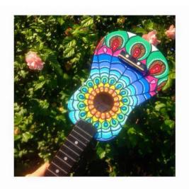 """""""Mandala Feather"""" Ukulele $120"""