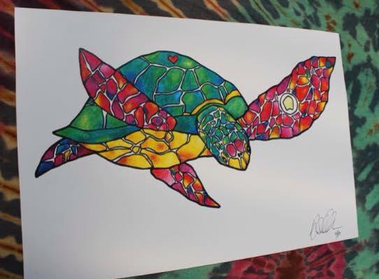 """""""Gili Air Turtle"""" Illustration print $20"""