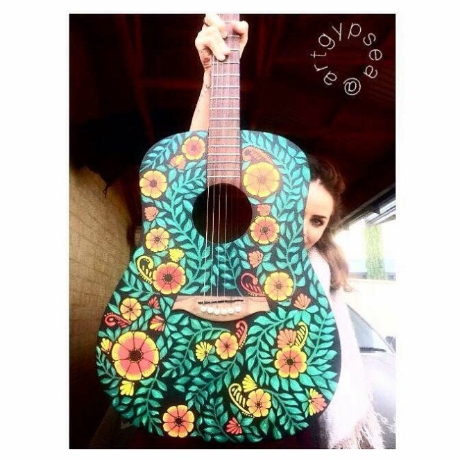 Frida Mexicano Guitar (2sided) $950.00